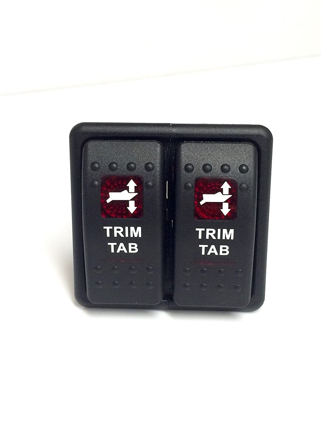 Marine Grade Bennet Trim Tab Switch, Switch Cover, and Drop in Panel. Pre-Wired Southernmarine