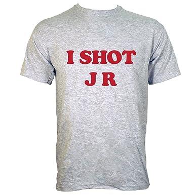 cee444c76 I Shot JR Mens T-Shirt: Amazon.co.uk: Clothing