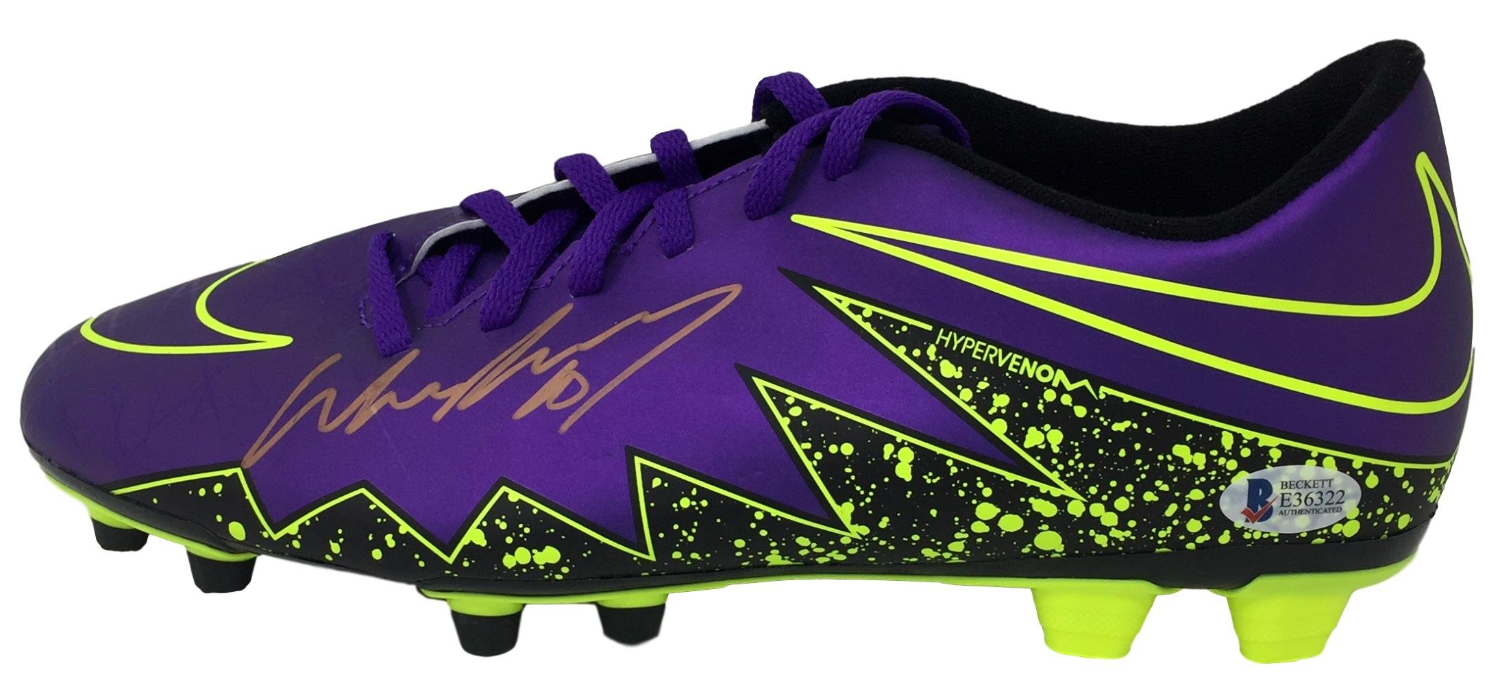 Wayne Rooney Signed Purple Nike Hypervenom Soccer Left Cleat BAS