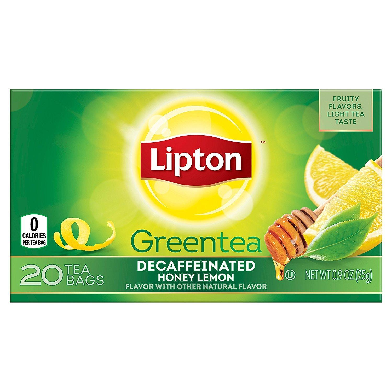 Lipton Green Tea, Decaffeinated Honey Lemon Chamomile, 20Ct (Pack of 6)