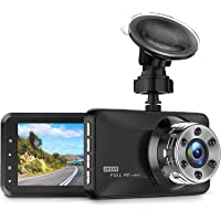 "CREUSA® Dash Cam, 1080P Full HD DVR Car Driving Recorder 3"" LCD Screen 170° Wide Angle Dash Camera for Car with WDR, G…"