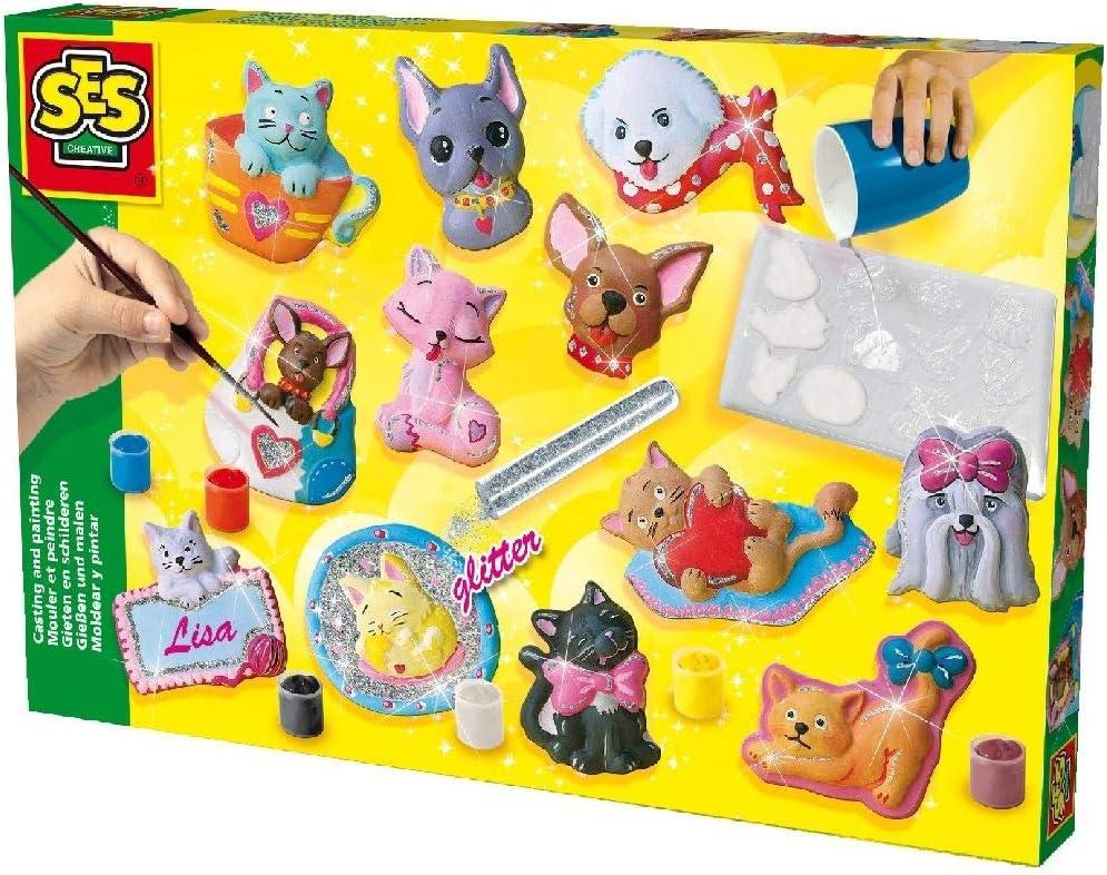 SES Moldea y Pinta Gatos y Perros, Multicolor (01154)