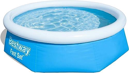 Bestway 57265 Round Kids Inflatable Pool, 8ft, Fast Set
