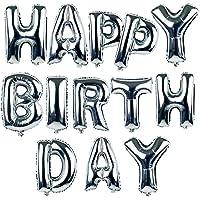 16 Inch Silver Alphabet Letters Balloons Happy Birthday Party Decoration Aluminum Foil Membrane Ballon