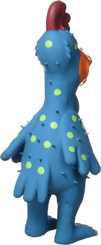 Pet Supplies : Pet Squeak Toys : Multipet's 11.5-Inch Latex Polka Dot Globken Chicken Dog Toy :