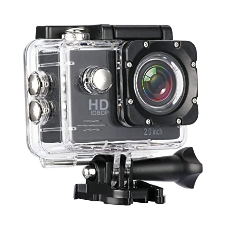 Salbuy 1080P HD Water Resistant Sports Wi Fi Action Camera  12MP  with Remote Control and 2 Inch Display Action Cameras