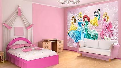 Disney Princesses Pink Castle Wallpaper Mural