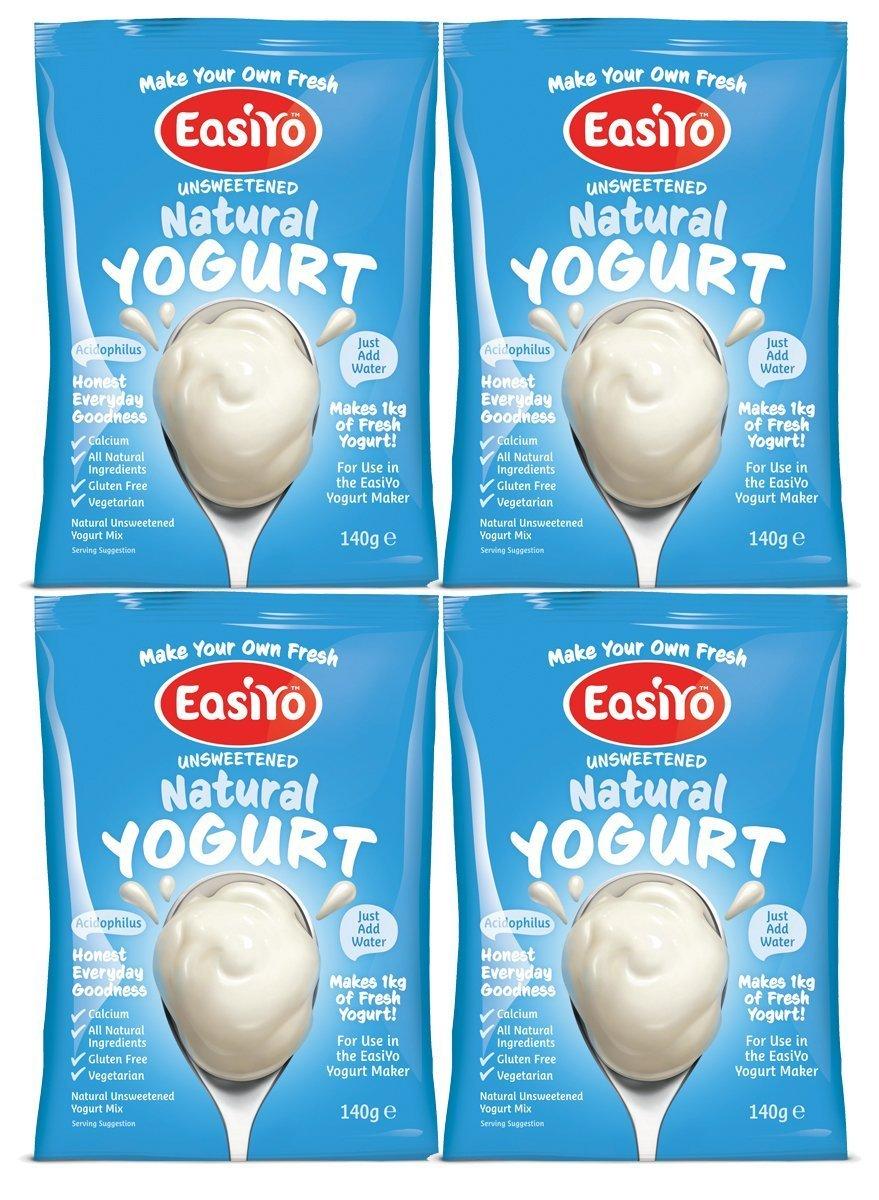 Easiyo Natural Un-Flavoured Yogurt Sachets - 4x140g