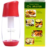 The Fine Life Ideal Olive Oil Mister Sprayer - Premium Air Pressure Only Clog-Free Cooking Oil Sprayer for Salads, Baking, Grilling, Air Fryers by Red