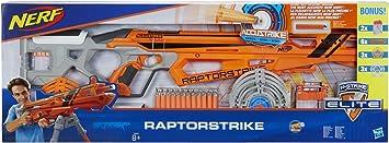 Hasbro C2543EU5 Nerf N-Strike Elite AccuStrike RaptorStrike Value Pack - Big Bonus Set with 4 Magazines, 24 Darts and 6 Targets: Amazon.es: Juguetes y juegos