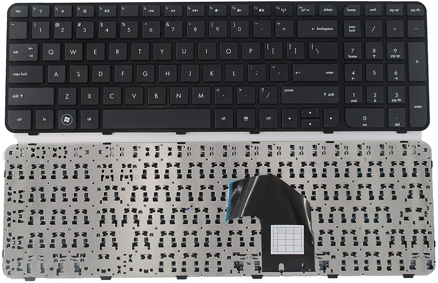 Replacement Keyboard with Frame Compatible with HP Pavilion G6-2000 G6-2100 G6-2200 G6-2300 G6T-2000 g6-2002xx g6-2010nr g6-2090