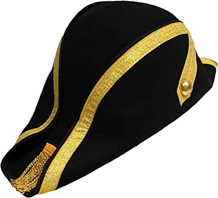 e9a199dd7be Cotswold Country Hats Wool Felt Bicorne Military Hat Naval Bicorn S M L XL   Amazon.co.uk  Clothing