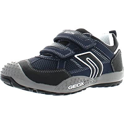 Geox Boys Jr Marlon Fashion Sneakers, Navy/White, 39