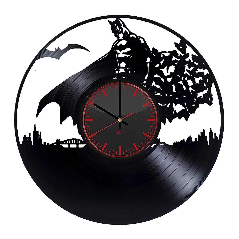 "Gift Ideas for Boys ??/"" Unique Art Design BorschToday Batman Handmade Vinyl Record Wall Clock Get Unique Home Room Wall Decor"