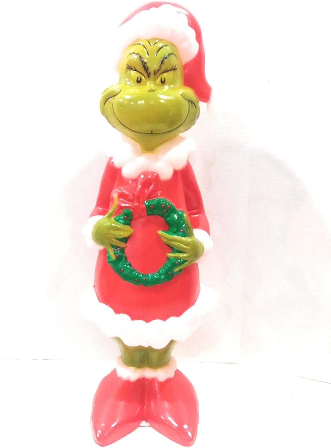 24 Grinch Figure Blow Mold Lawn Yard Christmas Decoration Plastic Light Up Lighted