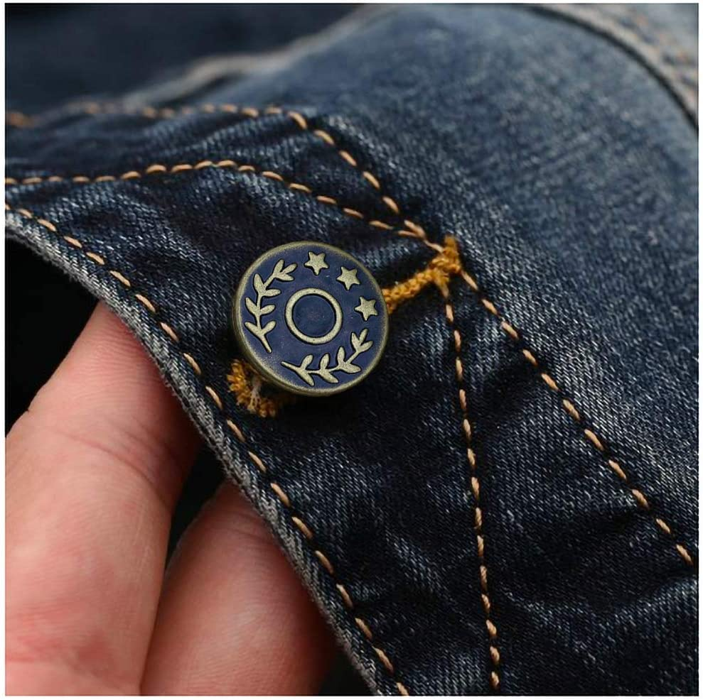 17mm Replacement Sew-on Jeans Buttons Denim Studs Coats Shirts Jacket Trousers