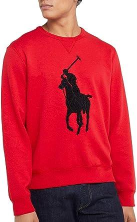 Polo Ralph Lauren Sudadera Big Logo Rojo Hombre: Amazon.es: Ropa y ...