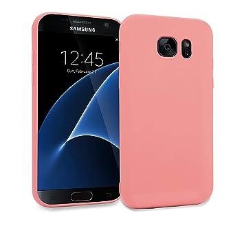MyGadget Funda Slim para Samsung Galaxy S7 Edge Soft Ultra Delgada 0,8mm - Carcasa Liviana en Silicona TPU Protectora cómoda y Ligera - Rosa