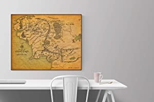 Map of Middle Earth Poster | Lord of The Rings HQ Art Print (8x10)