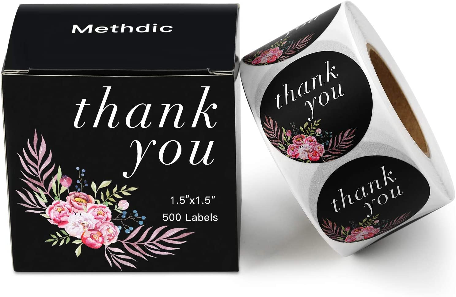 Methdic Thank You Stickers Roll Thank You for Supporting My Small Business Am...