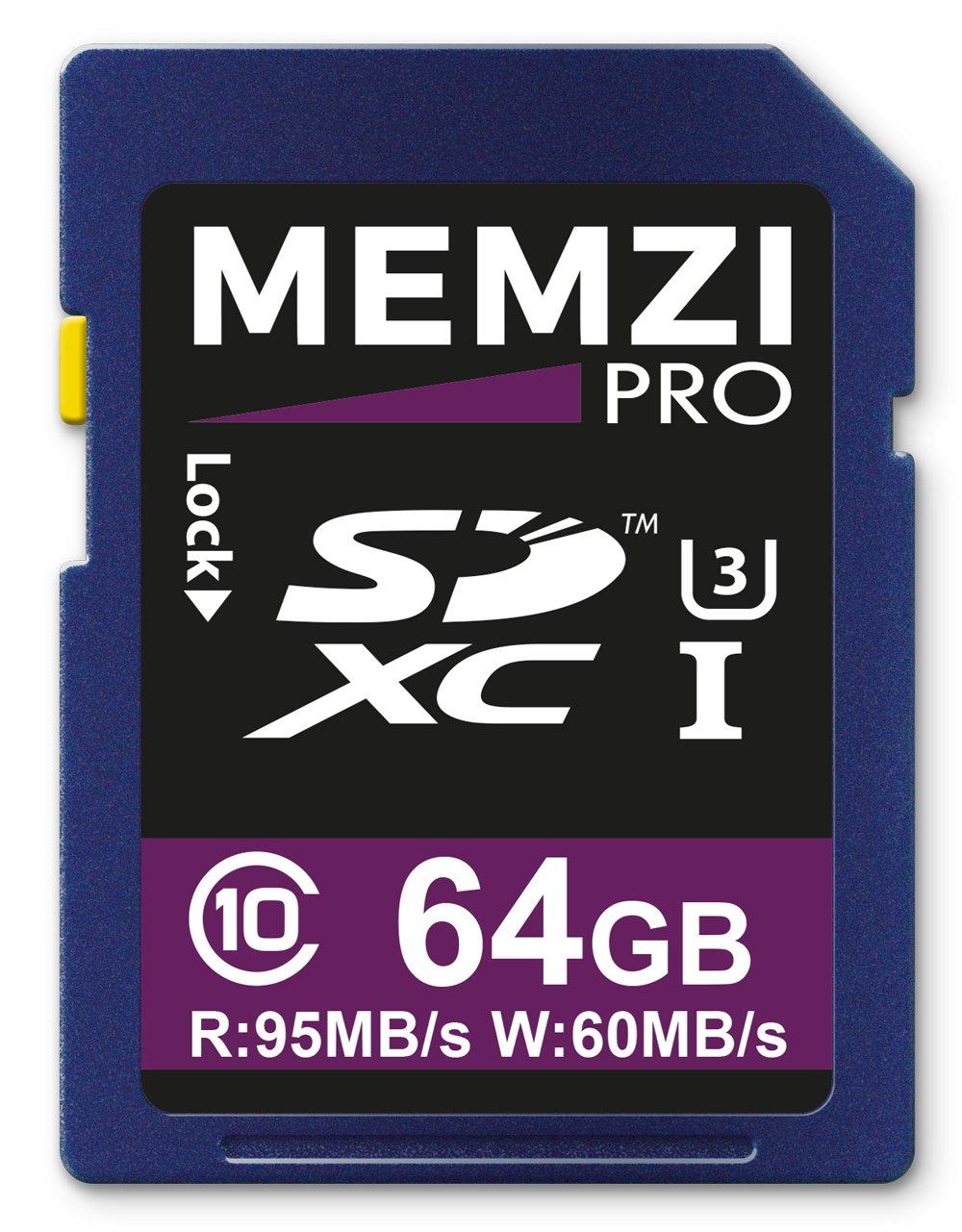 Memzi Pro 64GB SDXC memory card per Nikon Coolpix B700, B500, W300, w100Digital–ad alta velocità classe 10UHS-I U395Mb/s read 60MB/s Write 4K 2K 3D Full HD registrazione