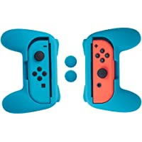 AmazonBasics Grip Kit for Nintendo Switch Joy-Con Controllers - Blue