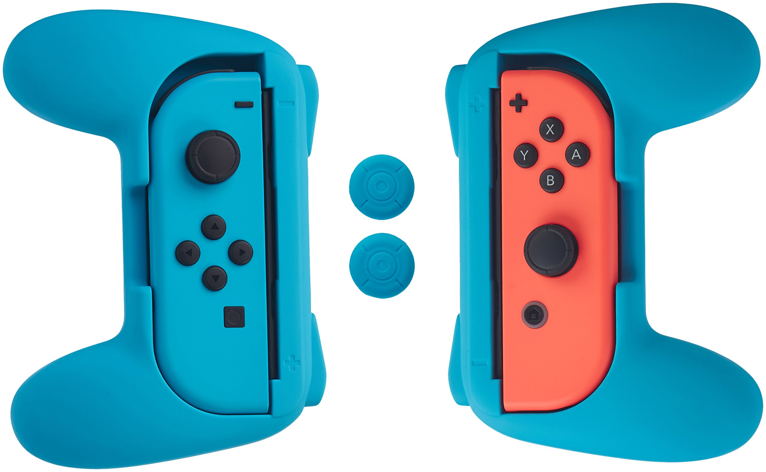 AmazonBasics Grip Kit for Nintendo Switch Joy-Con Controllers - Blue product image