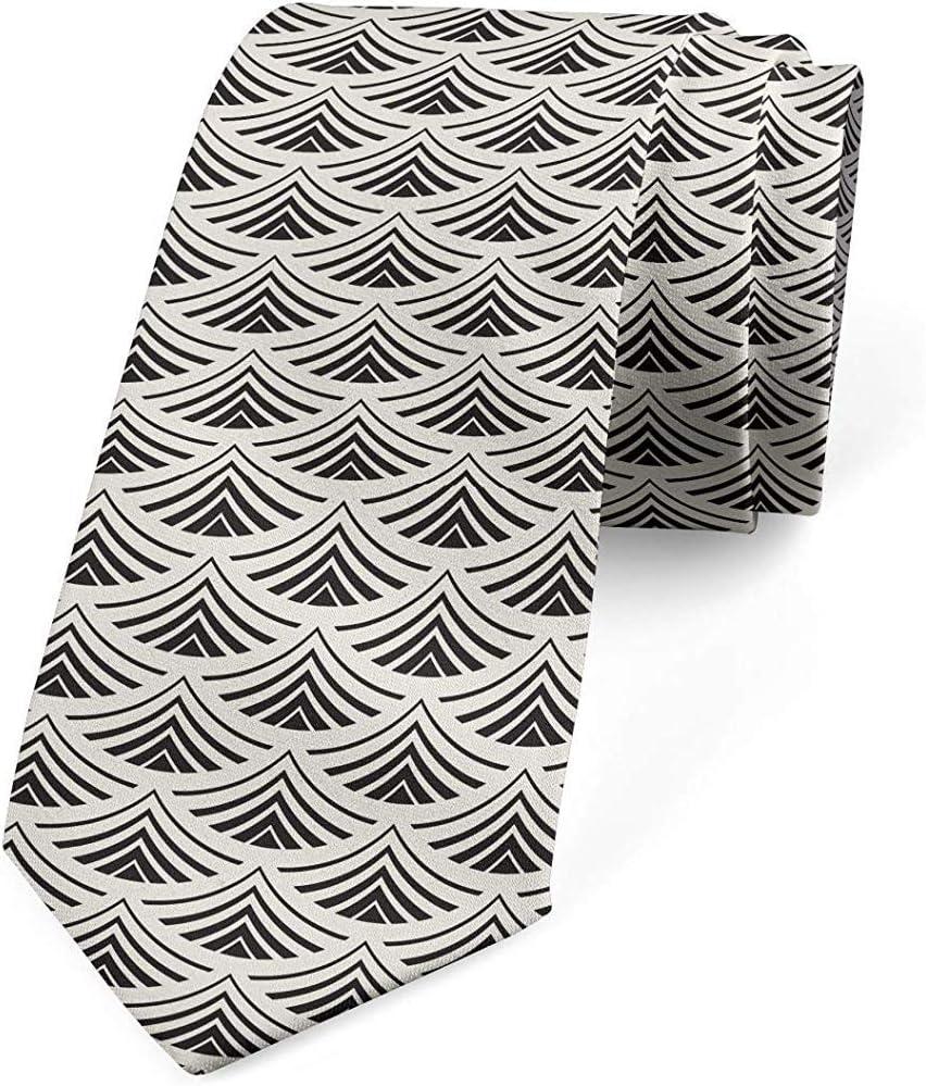 Corbata, motivo de abanico japonés geométrico, cáscara de huevo ...