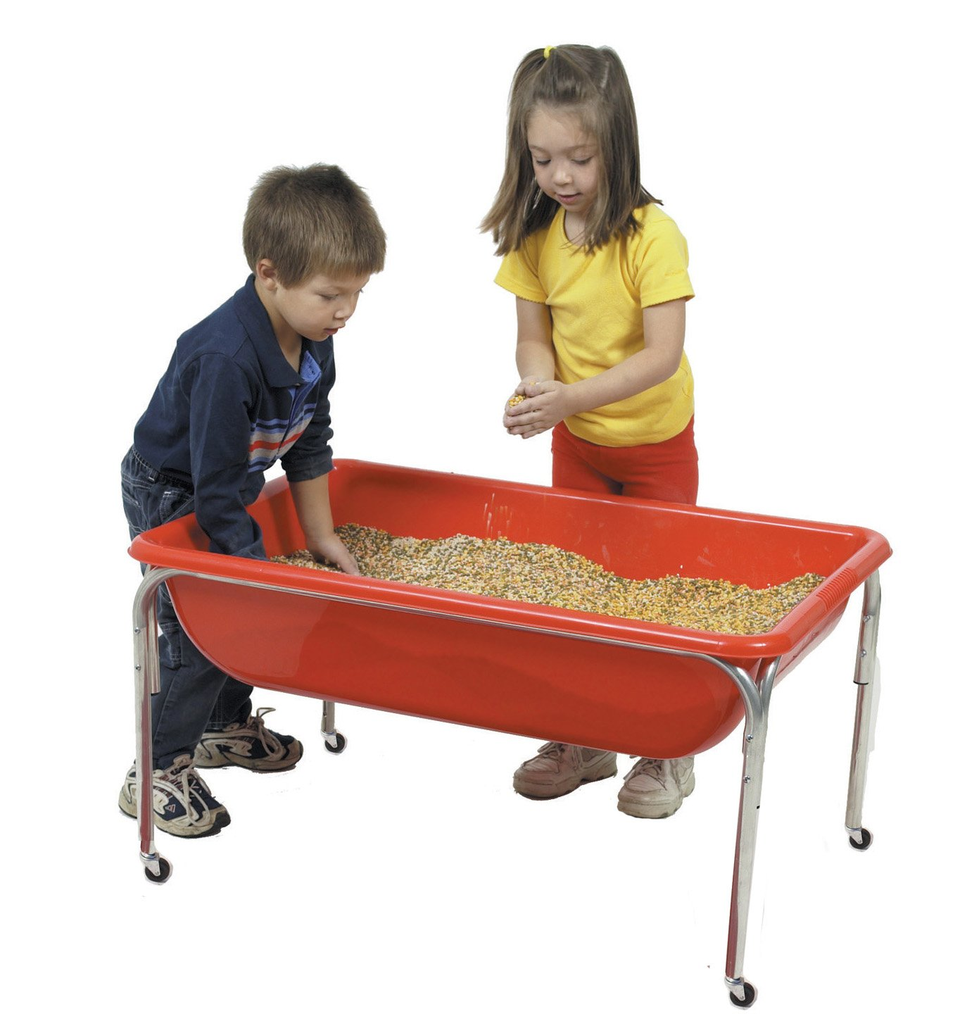 Children S Factory Large Sensory Table 36 By 24 By 24 Red Fill With Water Sand Beads And More Includes Casters For Easy Movement Made Of