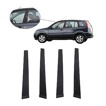 Frontal/Trasera, derecha, izquierda) puertas B pilar moldura Juego de tapacubos (4 unidades): Amazon.es: Coche y moto