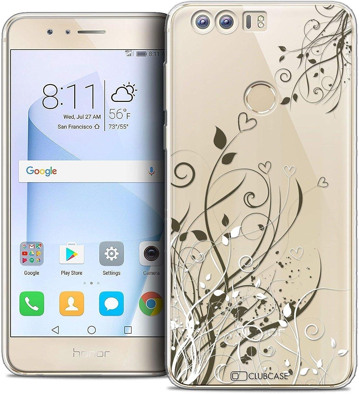 5.2 Coque Housse Etui pour Huawei Honor 8 Caseink Crystal Gel HD Collection Sweetie Design Doodling Hearts - Souple - Ultra Fin - Imprim/é en France
