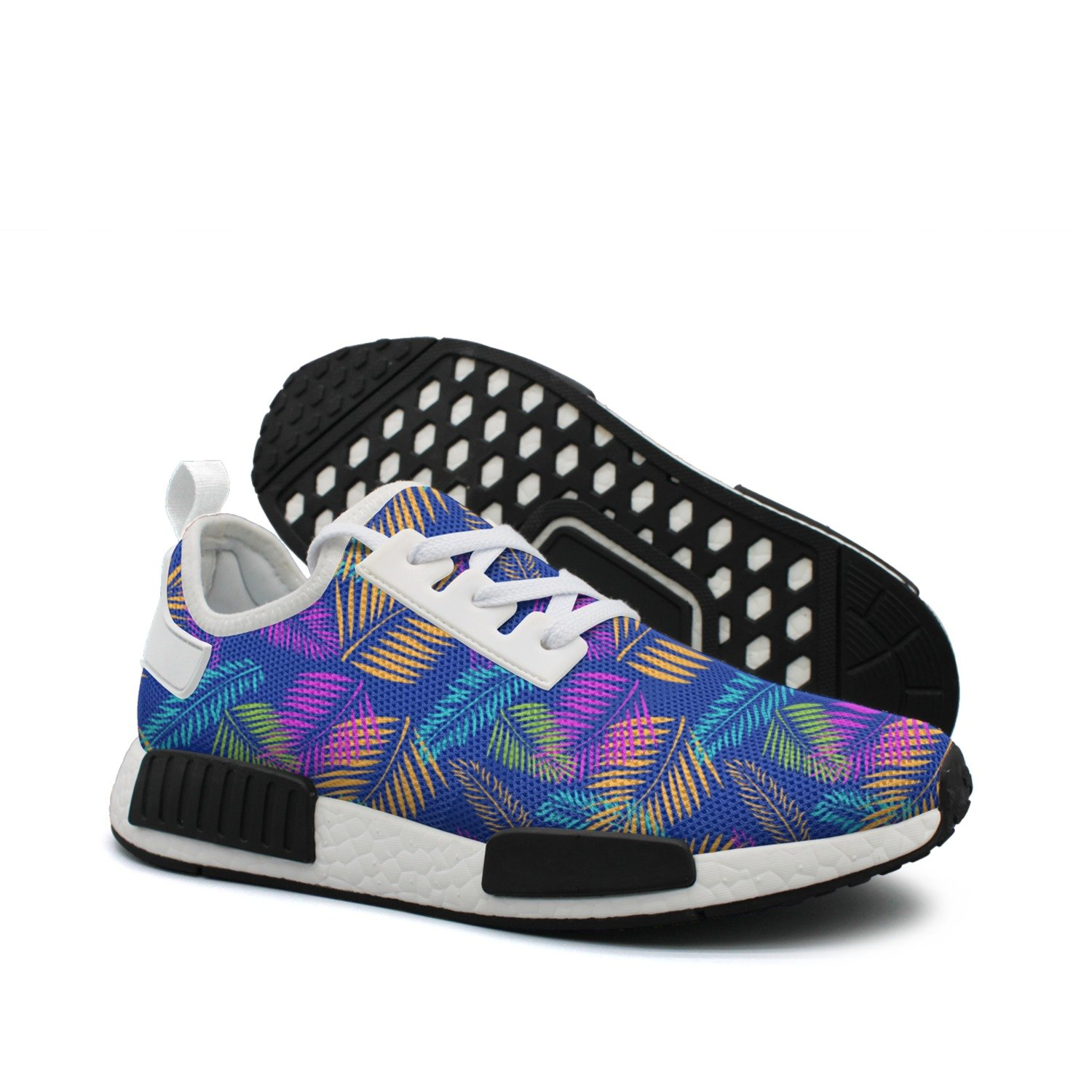 Women colorful Neutral Palm Tree Leaves Tropical Hunting Fashion Running shoes