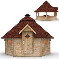 Grillhütte braun Holz XXL BBQ Hut