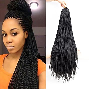 Senegalese Twist Hairstyles | Amazon Com Vrunique 6 Packs 22inch 1b Senegalese Twist Crochet