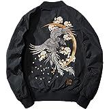 SemiAugust(セミオーガスト)スカジャン メンズ 中綿 ジャケット 刺繍 和柄 アウター MA-1 ミリタリー ジャンパー サテンスカジャン 春服 おしゃれ