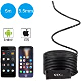 USB Endoscope for iPhone/Android 5.5mm Borescope Inspection Camera 2.0MP CMOS 1080P HD Waterproof Semi-rigid Snake Camera for Inspection Fish Tank, Sink Clog, Motor Engine - 16.5FT