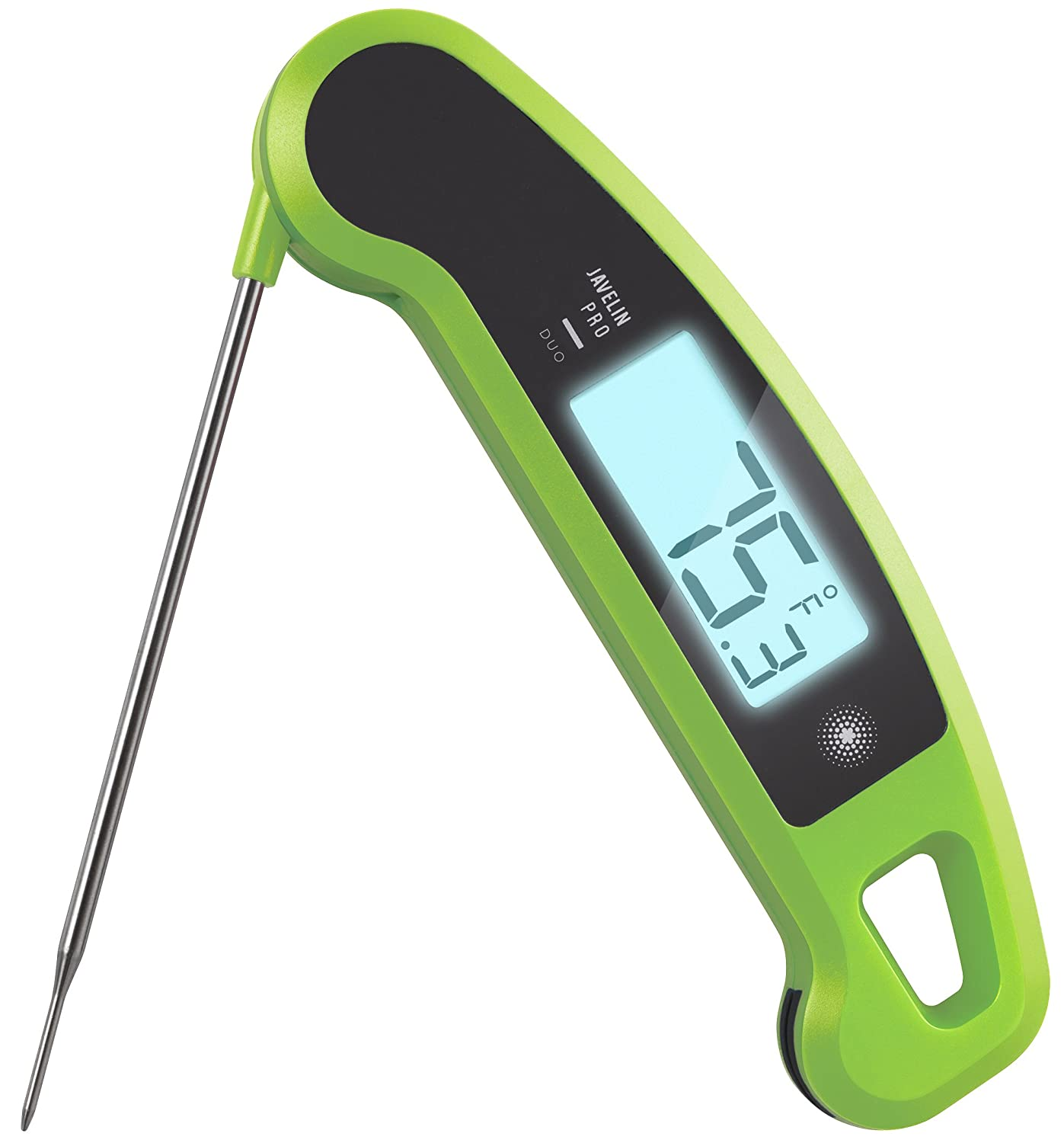 Lavatools Javelin PRO Duo Ambidextrous Backlit Instant Read Digital Meat Thermometer (Wasabi)