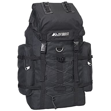 Amazon.com | Everest Hiking Pack, Black, One Size | Casual Daypacks
