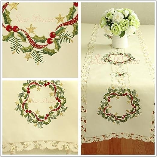SoarDream Crochet Lace tapetes para la mesa, CLASSIC bordado funda ...