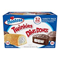 Hostess Twinkies & Ding Dongs Individually Wrapped, Cream, 32 Piece Assortment, 42.04 Ounce