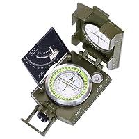 ARINO Bussola Multifunzionale Compasso Professionale Impermeabile per Militare Esercito Campeggio in Alta precisione in Lega Zinco