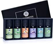 Lagunamoon Essential Oils Top 6 Gift Set  Pure Essential Oils for Diffuser, Humidifier, Massage, Aromatherapy, Skin & Hair Ca
