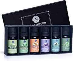 Lagunamoon Essential Oils Top 6 Gift Set Pure Essential Oils for Diffuser, Humidifier, Massage, Aromatherapy, Skin &...