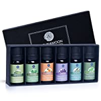 Lagunamoon Essential Oils Top 6 Gift Set  Pure Essential Oils for Diffuser, Humidifier...
