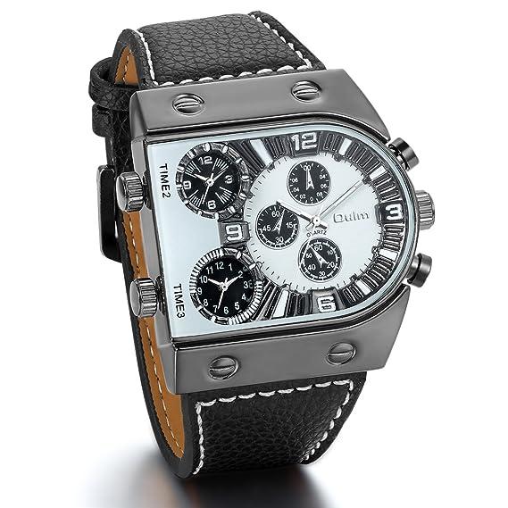 9cdc68413368 JewelryWe Relojes de Hombre Grande Reloj Deportivo Militar
