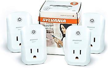 4-Pack Sylvania General Lighting 75591 ZigBee Indoor Smart Plug