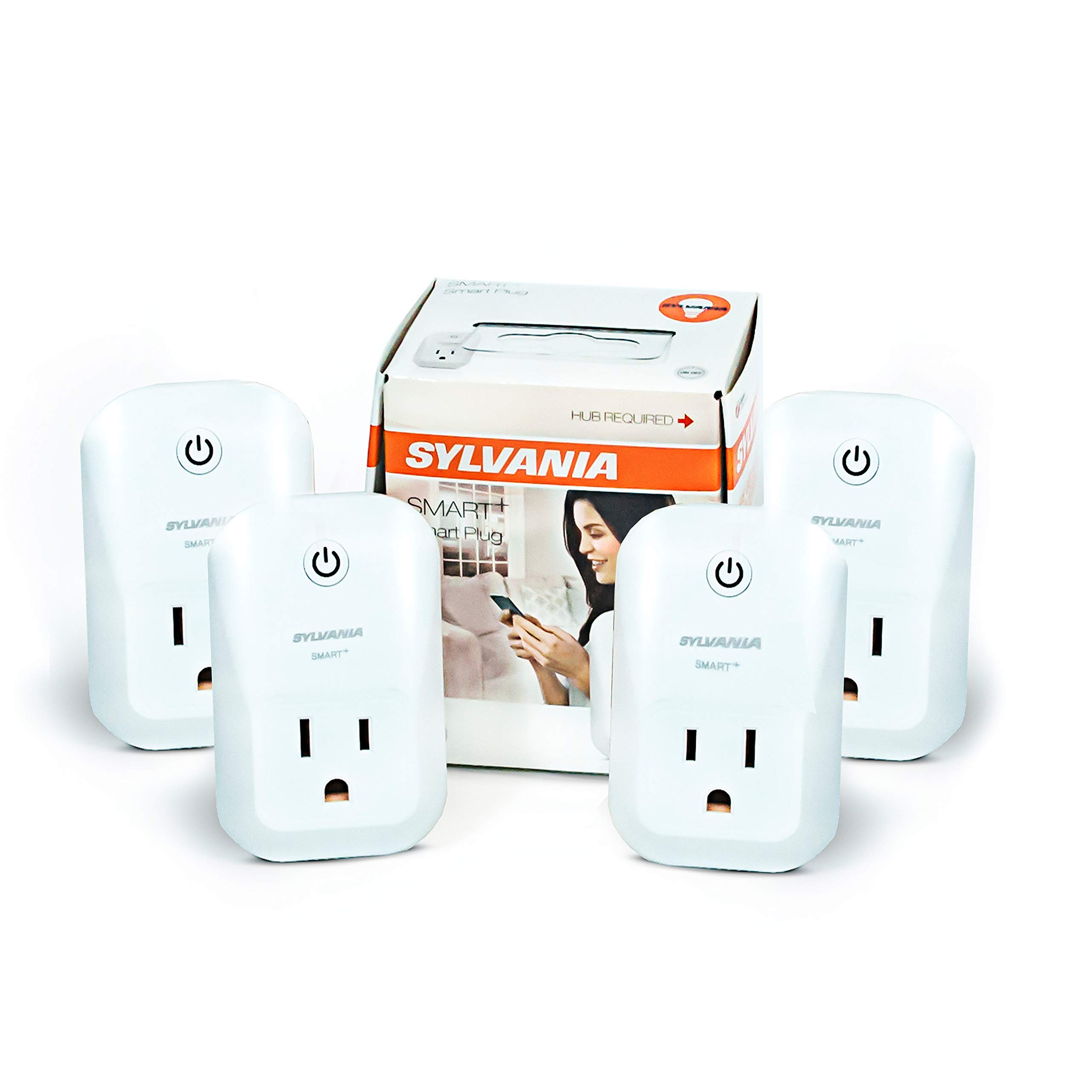 Sylvania 70555 ZigBee Indoor Smart Plug, Works with SmartThings, Wink, Echo Plus, Hub Needed for Amazon Alexa and The Google Assistant, 4 Pack