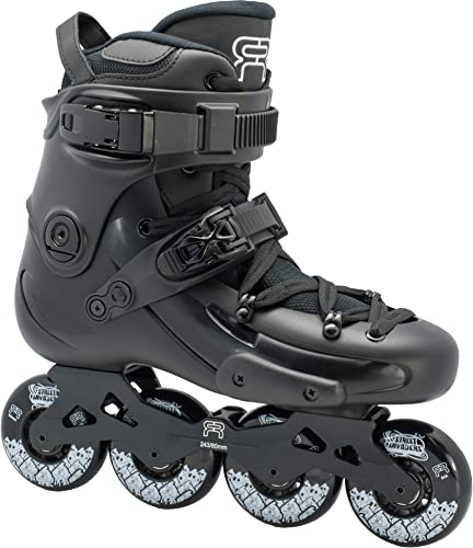 FR Skates FR1 Black 80 2019 Inline Skates for Freeride, Slalom, City Skating. Popular French Brand
