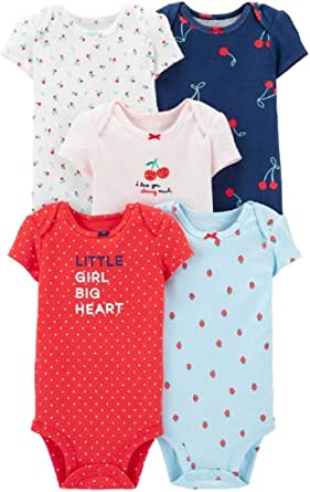 Carter's Baby Girls' 5-Pack Bodysuits 126g330