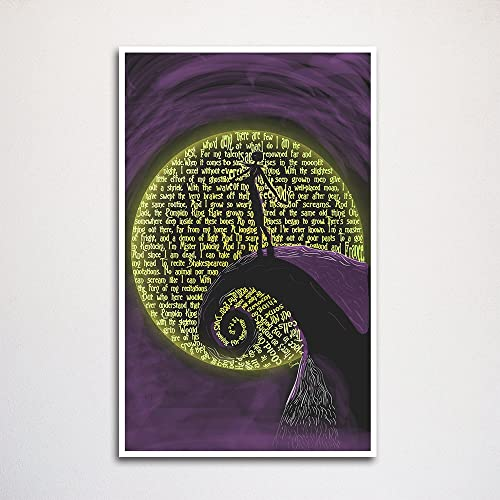Amazon Com Nightmare Before Christmas Jack Skellington Word Art